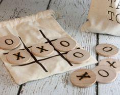 Los niños Tic Tac Toe Juego Set regalo de por twinsandcrafts