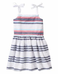 Gymboree Girls Desert Dreams White Striped Smocked Poplin Tank Sun Dress 5 6 7 8 #Gymboree #Dress #BirthdayPartyBeachEverydayParty