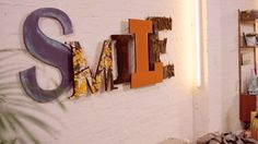 Letterlove. Giant wooden letters how-to video #DIY #home #3D