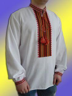 Ukrainian Embroidered Shirt for adult men. Size от UkraineSouvenir, $55.00