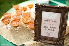 Maryland Crab Soup Shooters w/Old Bay - Santoni's Catering • Sagamore Farm Wedding Photos  •  tPoz Photography •  www.tpozphotoblog.com