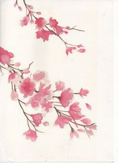 water colour blossom tree