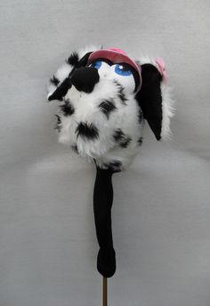 Personalised Novelty Animal Golf club head cover by Puppetsinabag