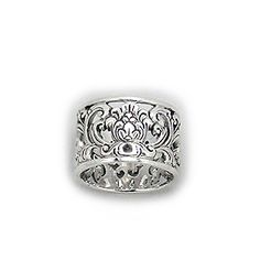 Traditional Style Sterling Silver Ring