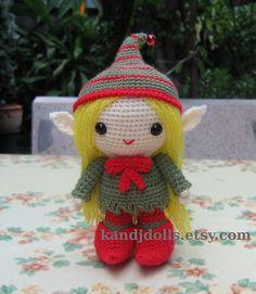 Amigurumi elf, Santa's little helper | da K and J Dolls