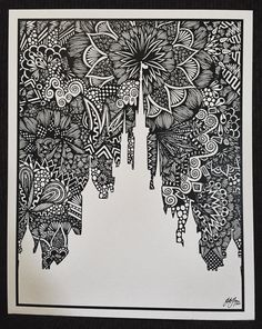 Zentangle The Castle by DesignsByBlynn on Etsy