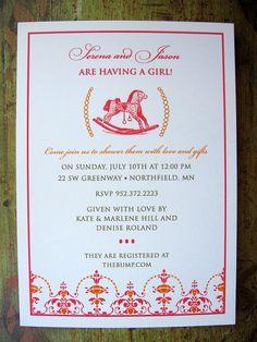Rocking horse baby shower invitations printable by thepartystork rocking horse baby shower invitation filmwisefo Gallery