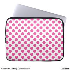 Pink Polka Dots Laptop Sleeve Available on many products! Hit the 'available on' tab near the product description to see them all! Thanks for looking!  @zazzle #art #polka #dots #shop #iphone #case #phone #electronic #accessory #accessories #fashion #style #women #men #shopping #buy #sale #gift #idea #samsung #galaxy #apple #mac #ipad #tablet #computer #lifestyle #fun #sweet #cool #neat #modern #chic #laptop #sleeve #ipad #pink #white
