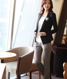 Solid Mid Waist Broadcloth With Pocket Decoration Pants