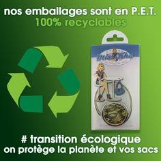 Nos emballages sont 100% recyclables. Miss Kha protège vos sacs et la planète. Le plastique PET se recycle à 100% et ne perd pas en principe ses caractéristiques fondamentales et peut donc être réutilisé à plusieurs reprises.  #transitionecologique #protectionenvironnement #accrochesac #sauvonslaplanete #portesac #emballagerecyclable #pet #petrecyclable #ecolo #environnement #ecologie #recyclable Plastic Animals, Packaging, Bags, Bag Hanger
