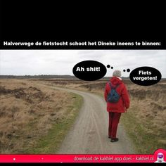 Fietstocht - Kakhiel Funny Quotes, Funny Memes, Jokes, Funny Stuff, Terrible Puns, Happy Again, Funny Pictures, Funny Pics