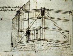 Leonardo's invention for the miter lock