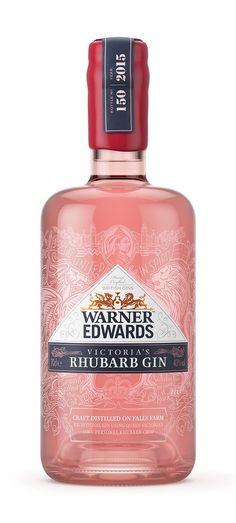 Victorias' Rhubarb Gin | #gin #bottledesign #packaging #warneredwards