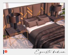 Sims 4 Beds, Muebles Sims 4 Cc, The Sims 4 Packs, Sims 4 Bedroom, Sims 4 House Design, Casas The Sims 4, Sims 4 Cc Furniture, Sims 4 Build, Luxury Dining Room