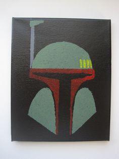 Boba Fett Star Wars Painting by StayNerdy4ever on Etsy