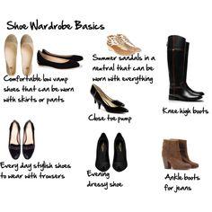 """Basic shoe wardrobe"" by imogenl on Polyvore"