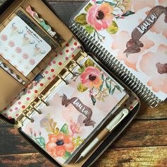 Floral Watercolor Personalized Planner Cover that fits Erin Condren Life Planner by MyNewestAddiction on Etsy