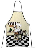 Chef & # s Aprons for Fun, Cooking and Decor Bistro Kitchen Decor, Fat Chef Kitchen Decor, Italian Kitchen Decor, Kitchen Cabinets Decor, Kitchen Aprons, Kitchen Themes, Farmhouse Kitchen Decor, Kitchen Colors, Kitchen Rack