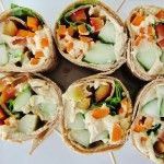Veggie Hummus Rolls.from Fresh and Nnatural Foods