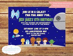 Star Wars Kids Birthday Invitation  by enchantingimpression  Let us help make your event enchanting!!