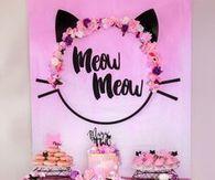 Meow Kitten Birthday party idea