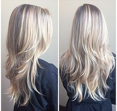 Dirty blonde and platinum weave highlight hair