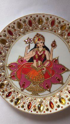 Handmade Small Door Wall sticker Pooja Puja MANDIR Decorations set of 2 for Rakhi decoration Size : 1 dia meter Each Pcs
