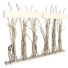 Lampadaire bois flott boston favoris pinterest for Branche bois flotte blanc