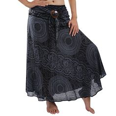 Rita Risa Womens Hippie Circle Boho Flowers Design Harem Strapless Dress or Skirt Black OneSize -- Check out the image by visiting the link. Maternity Swimwear, Maternity Wear, Boho Flowers, Boho Designs, Cotton Skirt, Hippie Bohemian, Casual Skirts, Midi Skirt, Strapless Dress