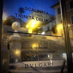 Piazza di Spagna's Stairs under Bulgari's restoration #bulgarijewelry #bulgarijewerly  #fattoamano