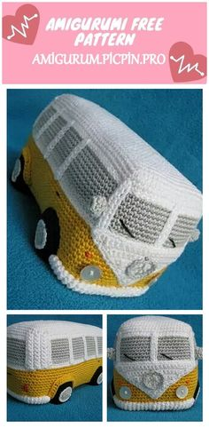 Welcome to our website where you can find the most beautiful and highest quality samples of Amigurumi patterns. All the amigurumi car patterns you can't find are available on our website. Crochet Amigurumi Free Patterns, Crochet Dolls, Crochet Clothes, Cute Crochet, Crochet Crafts, Crochet Projects, Knitting Help, Crochet Instructions, Beetle Bug
