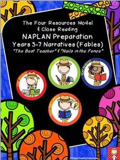 """Higher order thinking reading comprehension and writing activities for two narrative texts: """"The Best Teacher"""" and """"Nails in the Fence"""".  Resource designed to support holistic and rigorous preparation for national literacy testing (NAPLAN in Australia).This resource links the U.S."""
