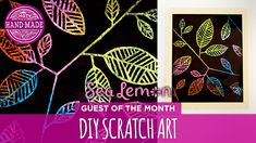 DIY Scratch Art with Sea Lemon - HGTV Handmade