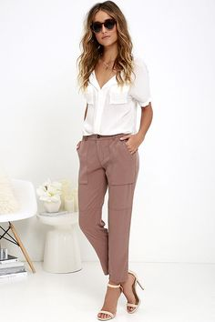 Gentle Fawn Lucy Brown Pants at Lulus.com!