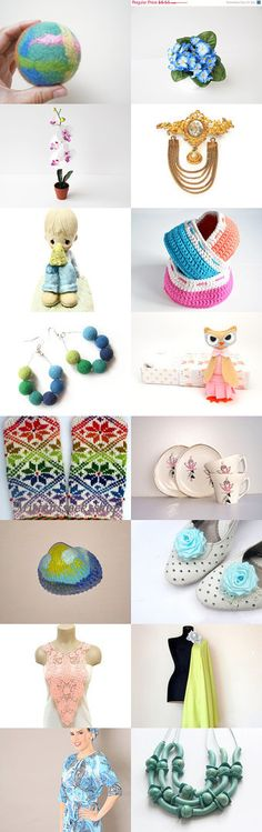 Pretty Pastels by Ingrida on Etsy--Pinned with TreasuryPin.com
