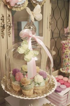 cupcake stand and dome