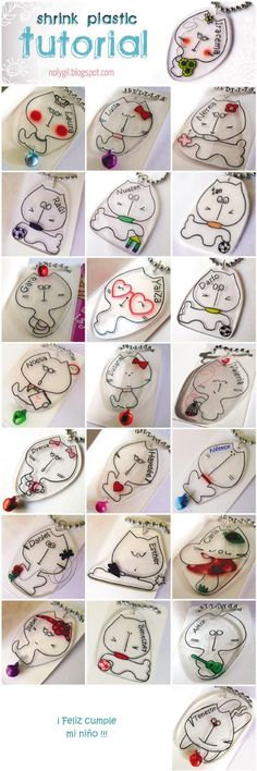 Make Jewelry and Decorations With These Amazing Shrink Plastic Art Tutorials: Cat Pendant Tutorial