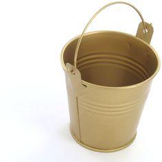 Metal Bucket Gold