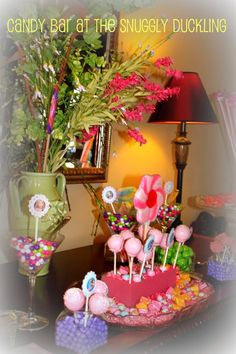 Rapunzel Tangled Birthday Party Candy Bar