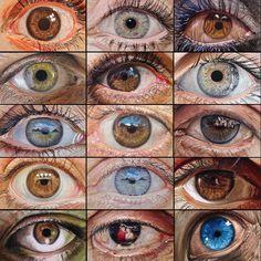 No photo description available. Cute Eyes, Pretty Eyes, Beautiful Eyes, Watercolor Portrait Tutorial, Watercolor Portraits, Eye Images, Eyes Artwork, Eye Sketch, Eye Photography