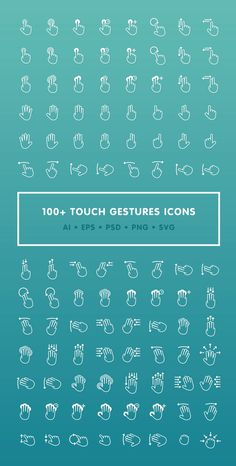 100+ Touch Gestures Icons