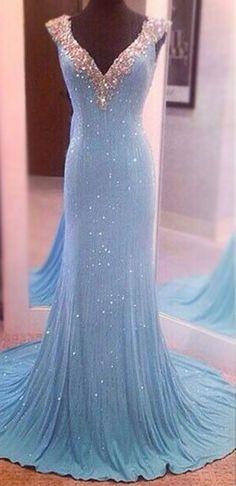 Largos Pretty V-Neck Sleeveless Sequins Mermaid Backless Floor-Length Long  Prom Dresses uk PM760 f20585ee0e5b