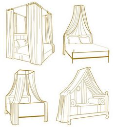 Style bedroom: four poster bed - 50 ideas for romantics. Discussion on LiveInternet - Russian Service Online Diaries