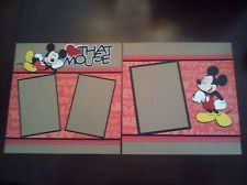 Disney 12 x 12 Love Mickey Mouse 2 Page Scrapbook Layout w/ Layered Die Cuts
