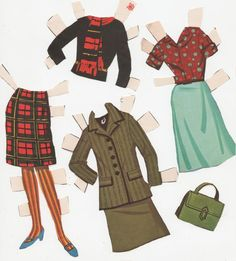 """Hayley Mills Paper Doll """"That Darn Cat"""" clothes #3"""