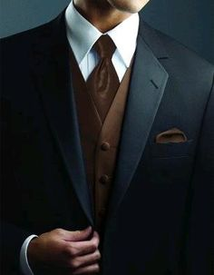 Black tux with brown