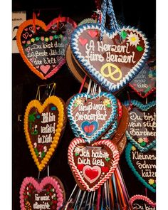 Germany Lebkuchenherz, or gingerbread hearts, baked for Oktoberfest.