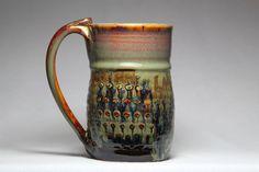 12oz ceramic pottery mug by DrostePottery on Etsy