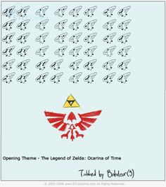 All Zelda Ocarina Songs   Opening Theme (Zelda: Ocarina of Time)   Ocarina Tabs