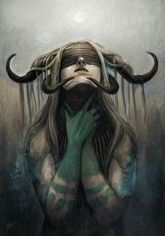 Dark art for our inner demons Arte Horror, Horror Art, Dark Fantasy Art, Dark Art, Arte Obscura, Evil Art, Demon Art, Macabre Art, Witch Art